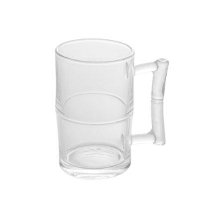Caneca p/ Chopp e Cerveja de Vidro Bambu 430ml - Lyor