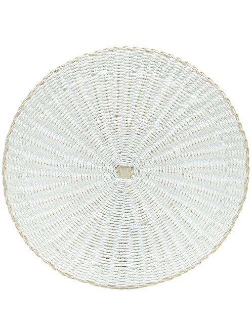 Lugar Americano de Palha Creta Branco 38cm - Lyor