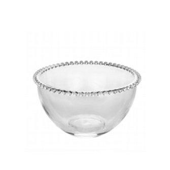 Bowl Grande Cristal Transparente de Bolinhas Pearl 21x12cm - Wolff