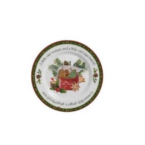 Prato Sobremesa em Cerâmica Christmas 20cm - Alleanza