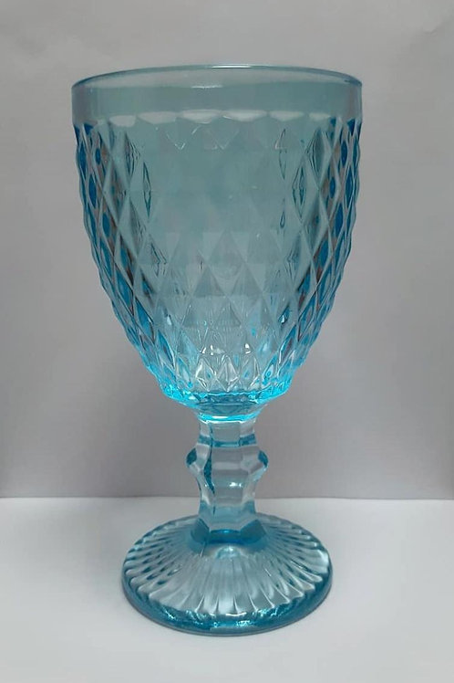 Taça 320ml Vidro Bico De Abacaxi Azul Claro - Mimo Style