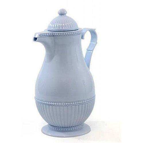 Garrafa Térmica de Plástico Azul Vintage 1L