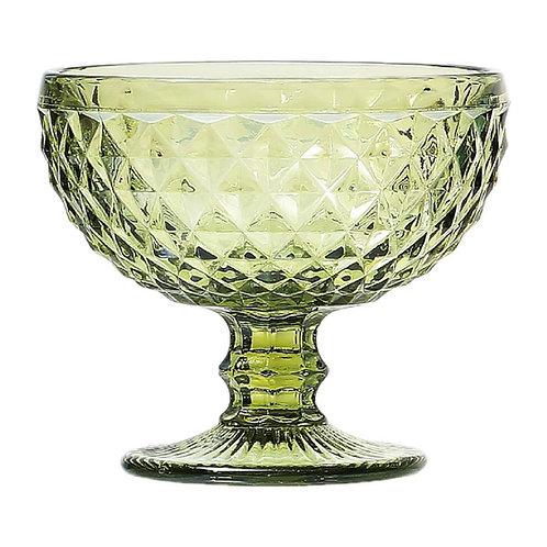 Taça Sobremesa de Vidro Bico De Abacaxi Verde 310ml - Lyor