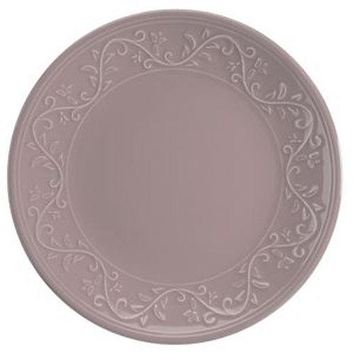 Prato Sobremesa em Cerâmica Alanya Plum 20cm - Wolff