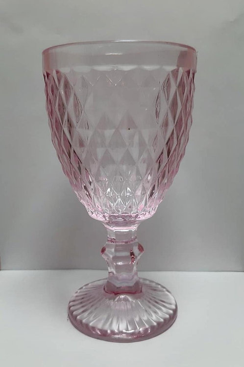 Taça 320ml Vidro Bico De Abacaxi Rosa - Mimo Style