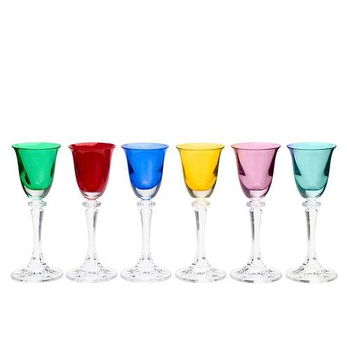 Conj. 6 Taças de Cristal Ecológico para Licor kleopatra Sortida 90ml-Bohemia