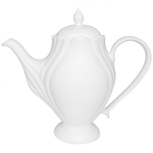 Bule de Porcelana Solei Branco 1,2 Litros - Oxford