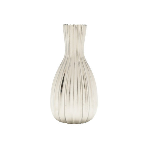 Vaso Decorativo Cerâmica Prateado - Tamanhos