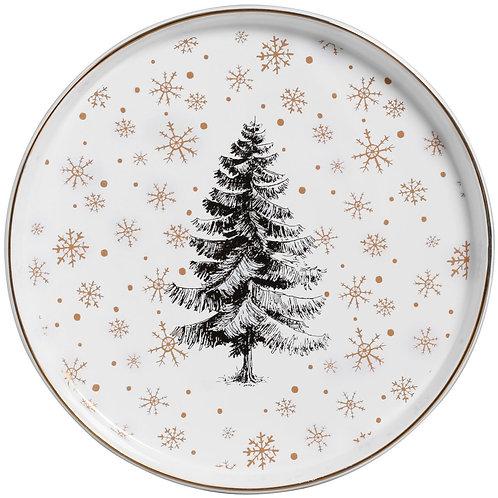 Prato Raso Forest Glow 27cm - Cerâmica Scalla