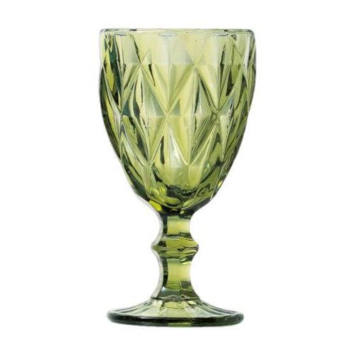 Taça Água Diamond Verde 325ml - Lyor