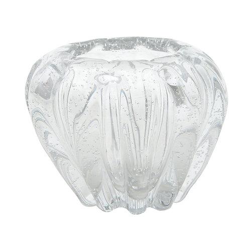 Vaso Murano Italy Transparente 16x14cm - Lyor