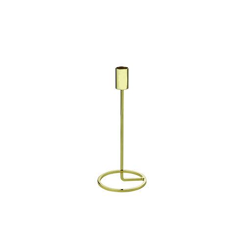 Castiçal em Ferro Dourado 9x18cm