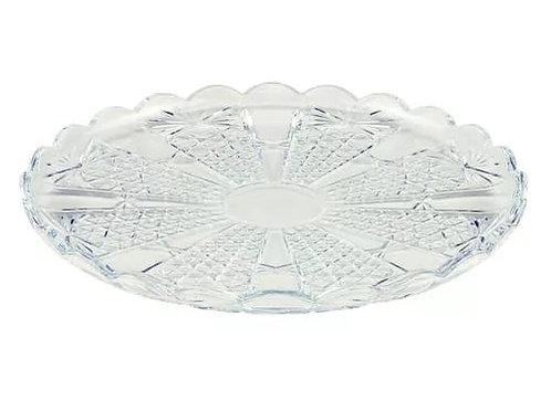 Prato de Cristal p/ Servir Princess Transparente 32cm - Wolff