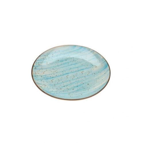 Prato Sobremesa de Porcelana Watercolor Azul 19cm