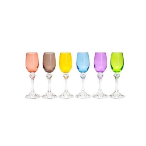 Conj. 6 Taças de Cristal Ecológico para Licor Elisa Sortida 65ml-Bohemia