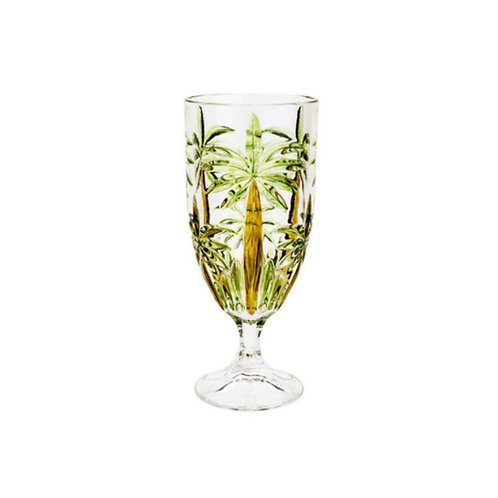 Taça de Cristal de Chumbo Palm Tree Handpaint 450ml -Wolff