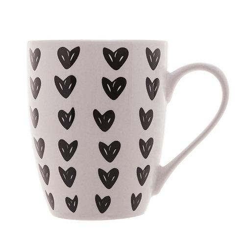 Caneca de Porcelana Cute Hearts 350ml