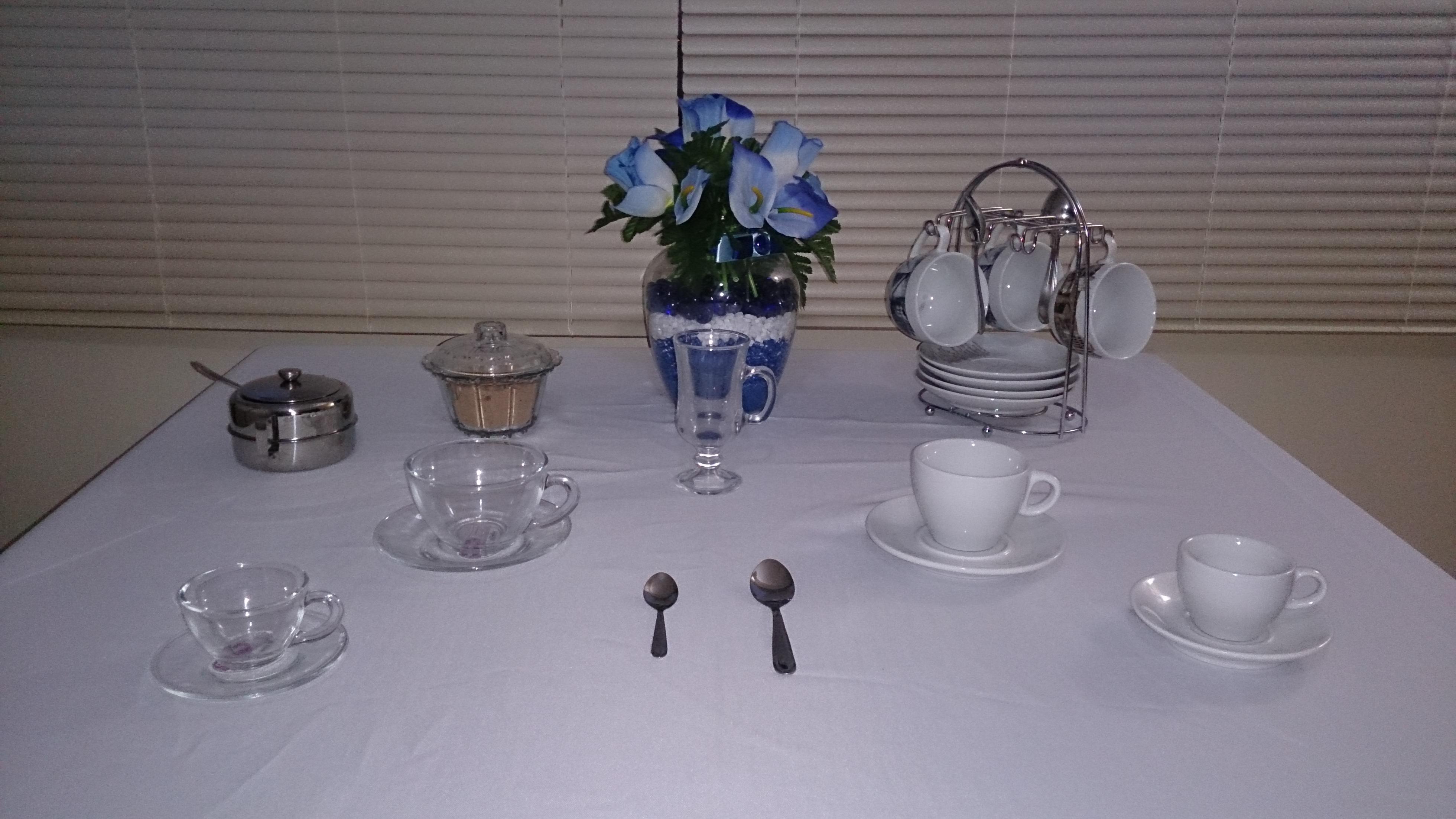 Sugestão para café e chá