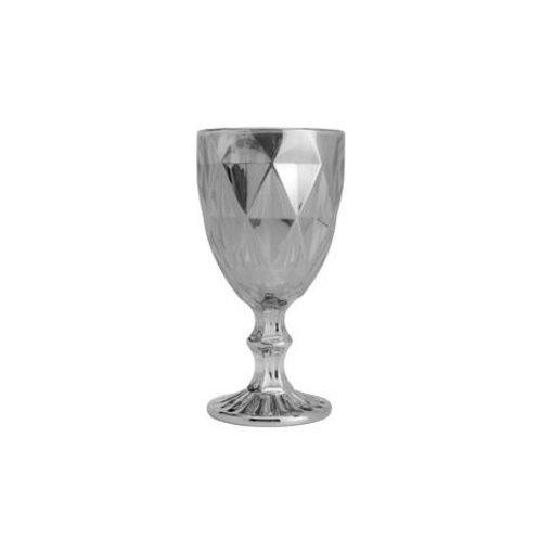 Taça Água Diamond Cinza Metalizado 325ml - Lyor