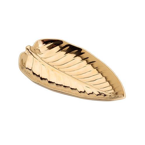 Folha Decorativa de Porcelana Anthurium Dourada - Tamanhos