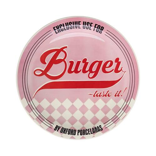 Prato Raso de Porcelana Burguer Pink 26cm - Oxford