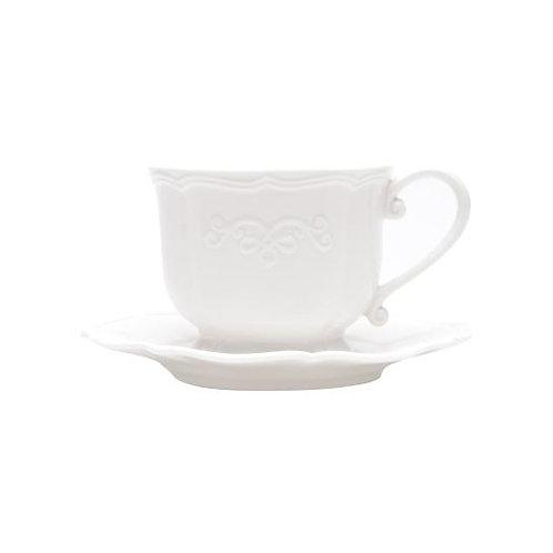 Xícara de Café c/ Pires de Porcelana Genebra 90ml - Lyor