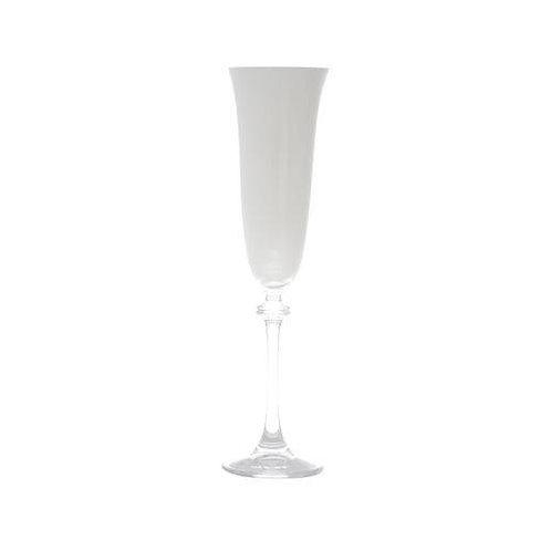 Taça de Cristal Ecológico para Champagne Alexandria Branco 190ml - B