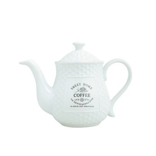Bule de Porcelana p/ Café Sweet Home 850ml