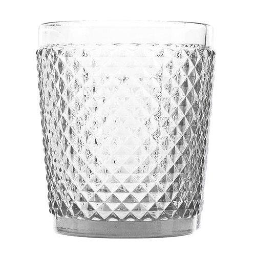 Copo Baixo de Vidro Sodo Calcico Bico de Jaca Transparente 300ml