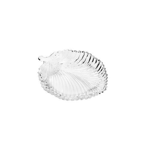 Prato de Cristal Leaf 20,5x17x2,5cm - Lyor