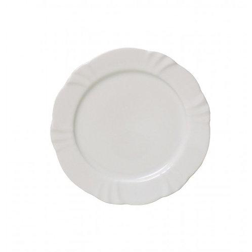 Prato Raso de Porcelana Solei Branco 29cm - Oxford