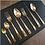 Thumbnail: Faqueiro 48 Pçs de Aço Inox Berna Dourado - Wolff