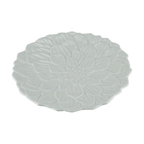 Prato Raso em Porcelana Daisy Branco 27cm - Wolff