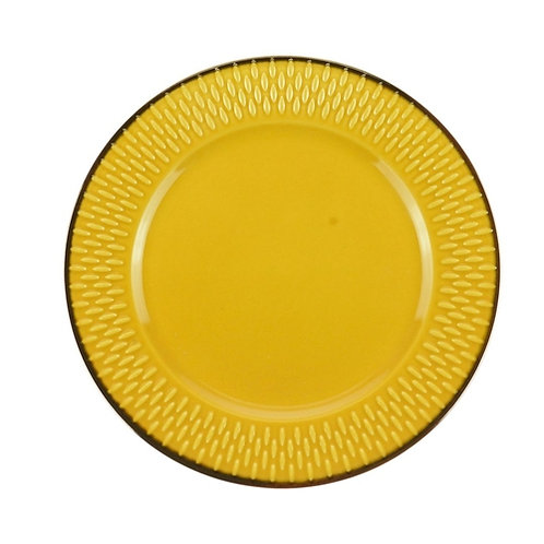Prato Sobremesa de Porcelana Drops Amarelo 20cm - Wolff