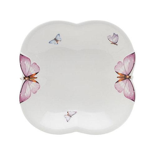 Prato Sobremesa de Porcelana Borboletas 19cm - Wolff