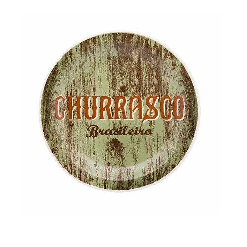 Prato Raso de Porcelana Churrasco Green 26cm - Oxford