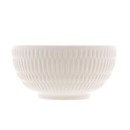 Bowl de Porcelana Toledo Branco 15x7cm - Lyor