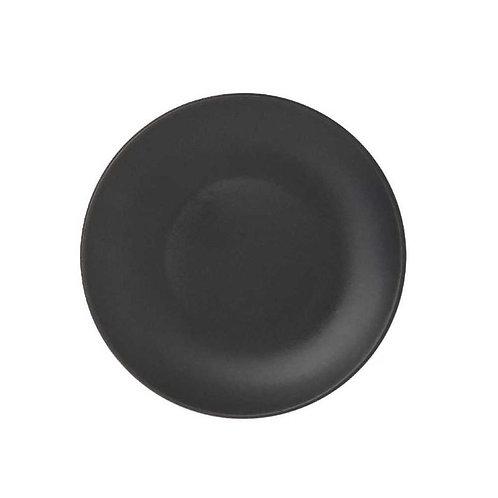 Prato Sobremesa de Cerâmica Cronus Preto 19cm - Lyor