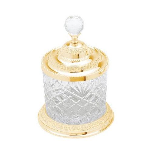 Pote Multiuso de Zamac Cristal Dourado Tamanhos - Lyor