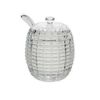 Açucareiro de Cristal c/ Colher Bee 210ml - Lyor