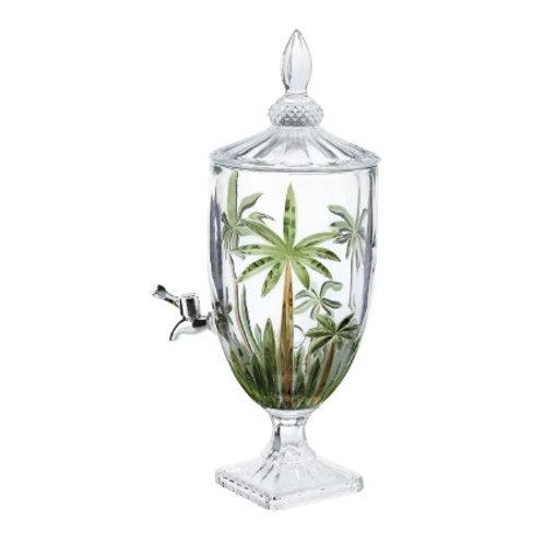 Dispenser de Cristal Palm Tree Handpaint 4 Litros - Wolff