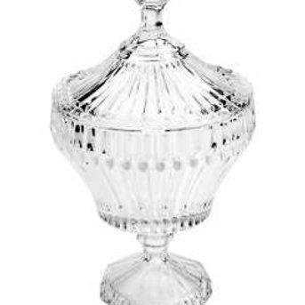 Potiche Decorativo de Cristal Renaissance Transparente 17,5 x 28,5cm - Lyor