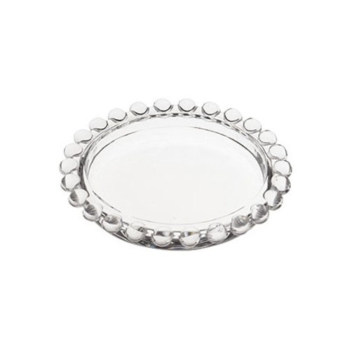 Mini Pratinho Cristal Transparente de Bolinhas Pearl 10x2cm - Wolff