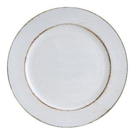 Sousplat P/ Chá de Plástico Opala Branco 25cm