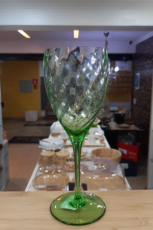 Taça em Cristal Água Rigado Esmeralda 470ml - Oxford