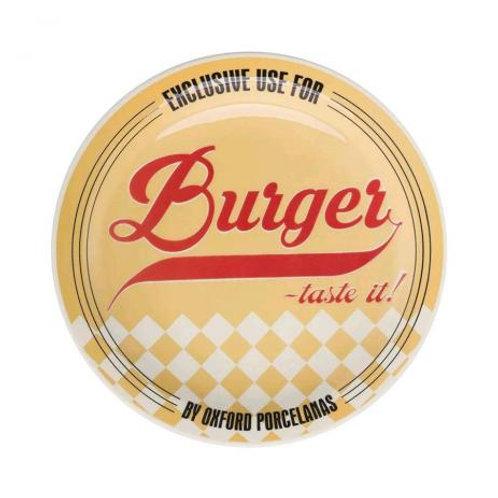 Prato Raso de Porcelana Burguer Yellow 26cm - Oxford