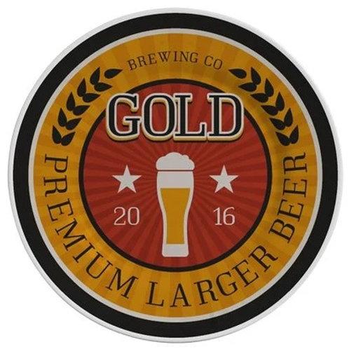 Prato Raso em Cerâmica Beer Gold 28,5cm - Alleanza