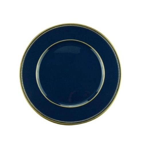 Sousplat de Plástico Azul 33cm