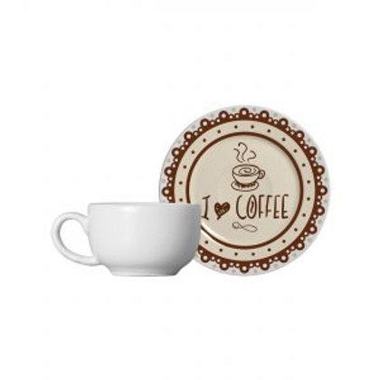 Xícara de Café c/ Pires Coffe 120ml - Alleanza