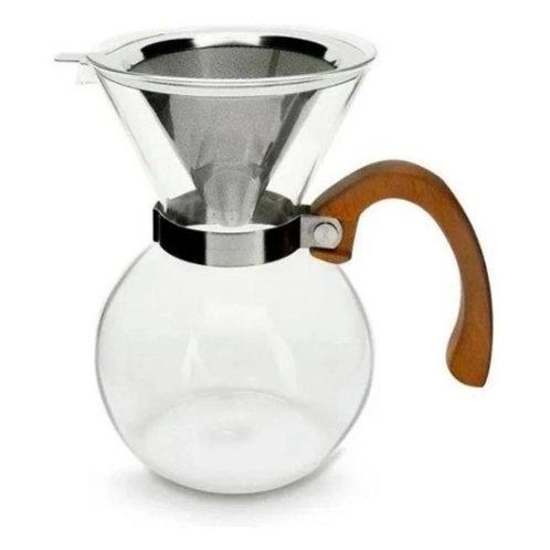 Passador de Café em Vidro Borissilicato c/ Filtro de Inox 650ml - Mimo Style